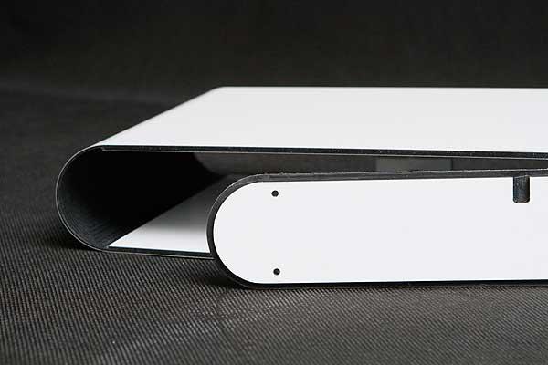 Obudowa do urządzenia audio wyprodukowana na zamówienie z płyty warstwowej typu dibond