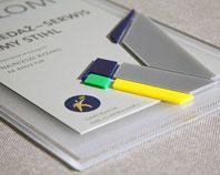 Dyplom przestrzenny z napisami 3d dla sprzedawcy z wypukłą ozdobna piątką