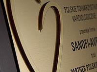 Grawerowane dyplomy podziękowanie z wypukłym przestrzennym 3d złotym sercem
