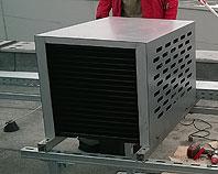 Obudowa aluminowa na klimatyzator zamontowany na dachu