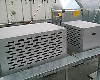 Obudowy metalowa na klimatyzatory zamontowane na dachu