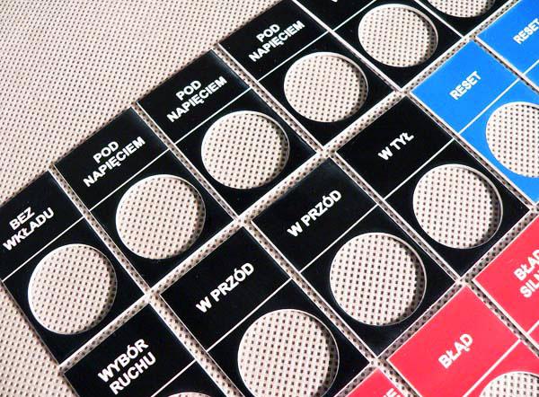 Tabliczki opisowe do przełączników