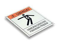 Tabliczka ostrzegawcza NIEBEZPIECZEŃSTWO PORAŻENIA PRĄDEM