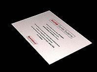 Aluminiowy ozdobny certyfikat autoryzacji