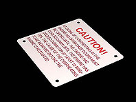 Tabliczka aluminiowa CAUTION
