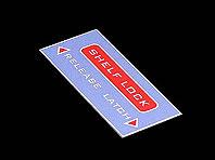 Tabliczka opisująca funkcje zamka półki