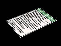 Aluminiowa Instrukcja Bezpieczeństwa do maszyny