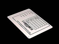 Aluminiowa tabliczka znamionowa z kodem kreskowym