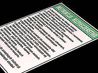 aluminiowe instrukcje bezpieczeństwa