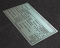 Tabliczka CEn do compressora