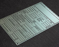 aluminiowa tabliczka homologacji
