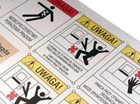aluminiowa tabliczka ostrzegawcza
