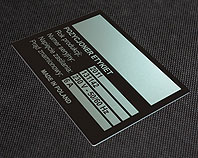 Aluminiowa tabliczka do pozycjonera etykiet