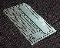 Tabliczka do stojaka magazynowo transportowego
