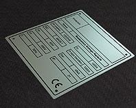 Tabliczka metalowa do rozdzielnicy niskiego napięcia