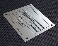 Tabliczka wydrukowana na aluminium do obrabiarki do fazowania