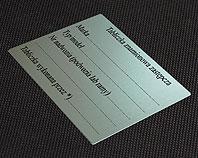 Tabliczka zastępcza aluminiowa